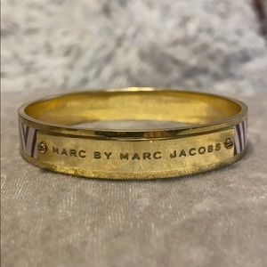 Marc Jacobs pink and black bangle